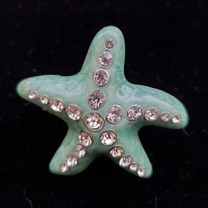 Teal Starfish Ring